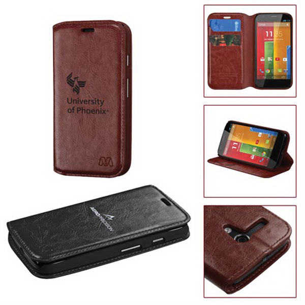 Wallet Style Synthetic Leather Case for Motorola Moto G