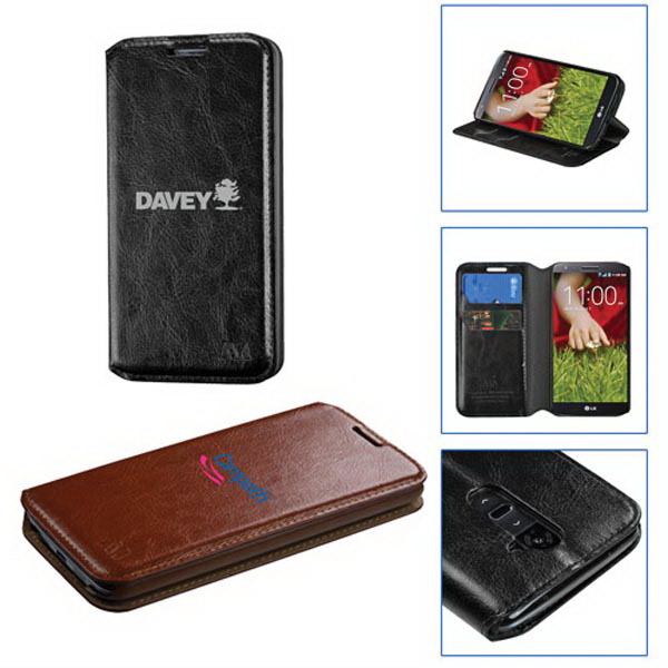 Wallet Style Synthetic Leather Case for LG G2