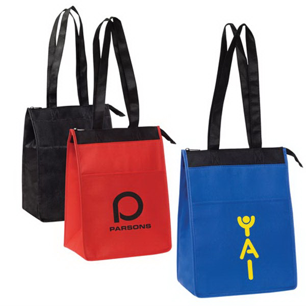 Zippered Nonwoven Cooler Tote