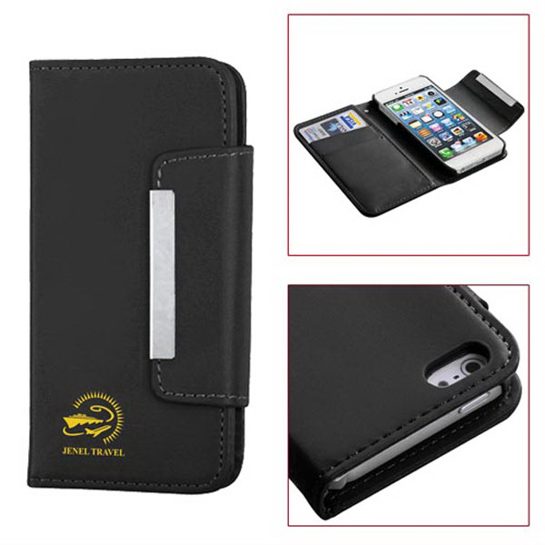 Book Style Smooth Synthetic Leather Case for iPhone 5