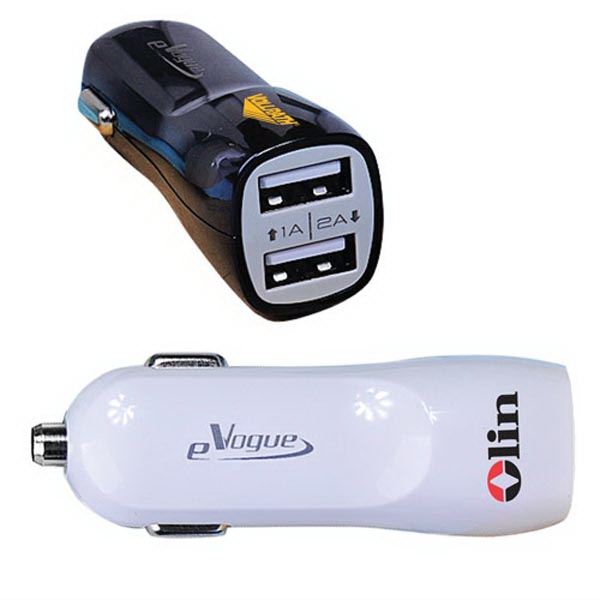In-car charger/Adaptor with Dual USB Ports