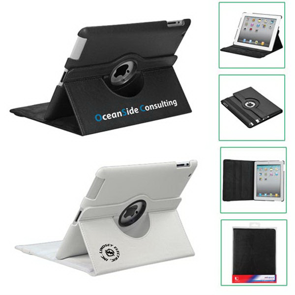 Premium Rotatable Synthetic Leather Case/Stand for iPad