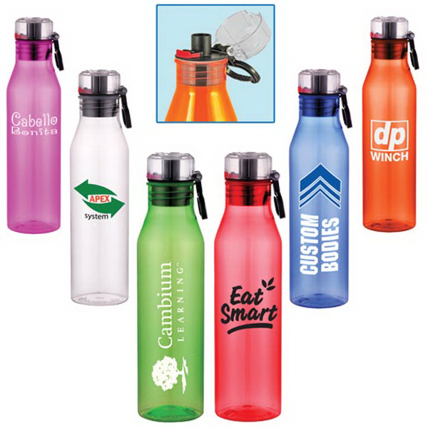 25 Oz Acrylic Sports Bottle with Flip-Open Lid