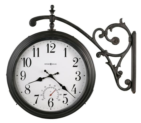 Luis double sided indoor/outdoor wall clock