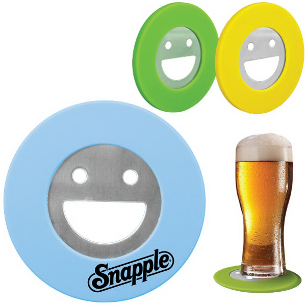 SILICONE SMILEY FACE BOTTLE OPENER