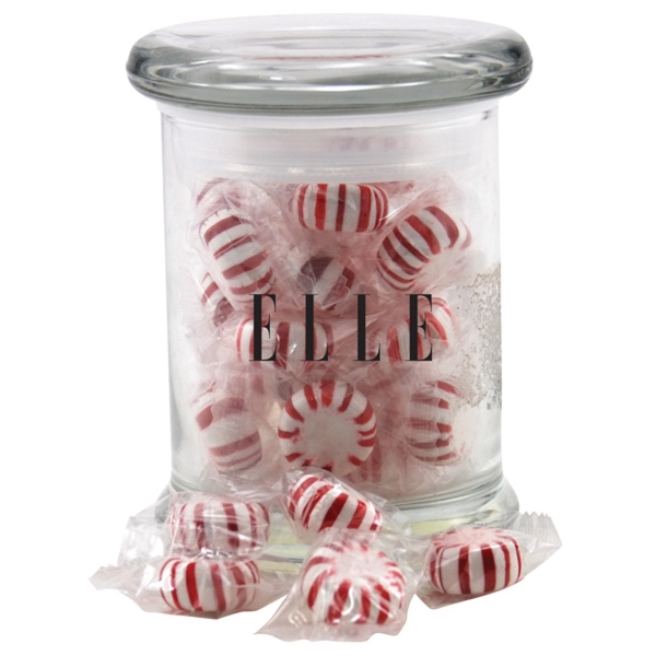 Starlight Peppermints in a Round Glass Jar with Lid