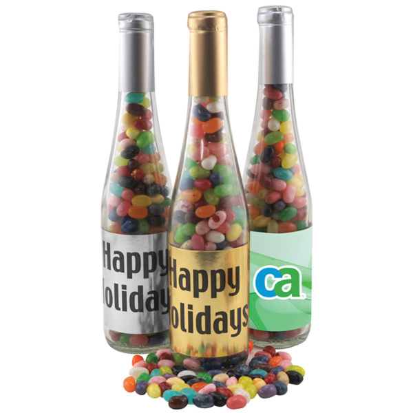 "11"" Champaign Bottle with Jelly Bellys Candy"