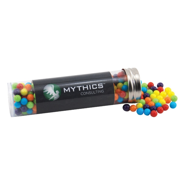 "Mini Jawbreakers Candy in a 5 "" Plastic Tube with Metal Cap"