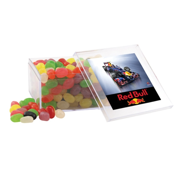 Jelly Beans in a Clear Acrylic Large Box