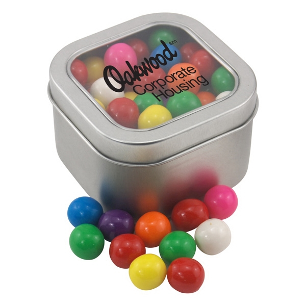 Large Tin with Window Lid and Gumballs