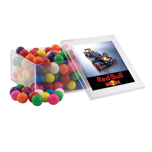 Gumballs in a Clear Acrylic Large Box