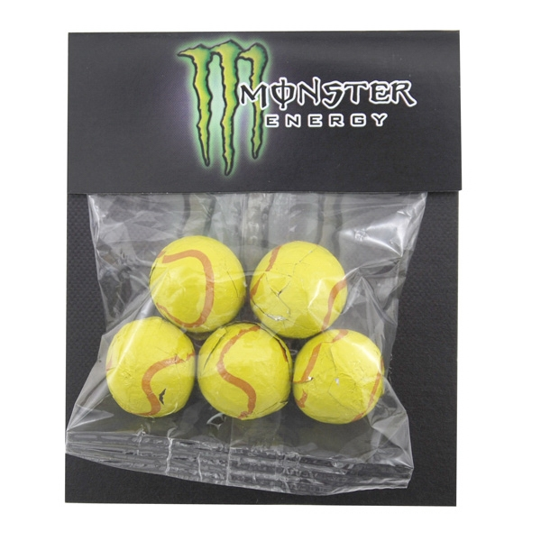 Billboard Full Color Header Bag- with Choc Tennis Balls