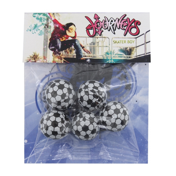 Billboard Full Color Header Candy Bag with Choc Soccer Balls
