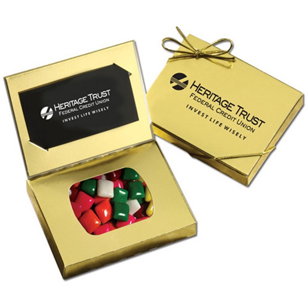 Gold Credit Card Gift Box with Mini Chicklets