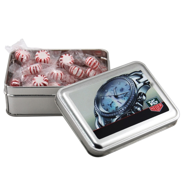 Starlight Peppermints in a metal gift box with lid