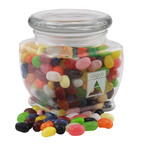 Gourmet Jelly Beans Candy in a Large Glass Jar with Lid