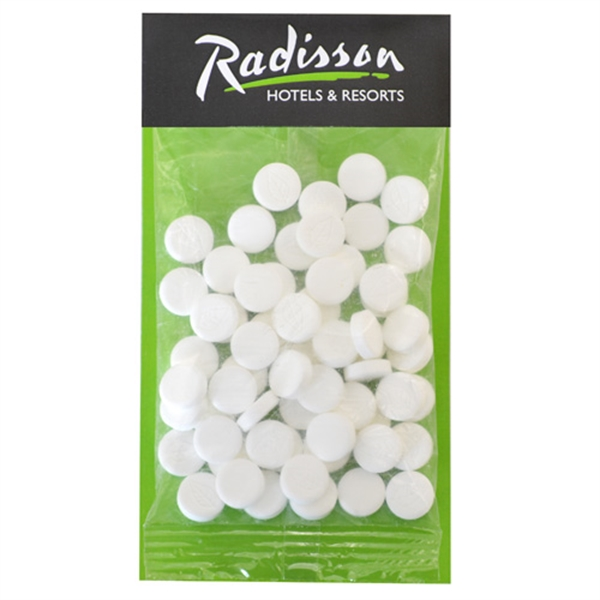 Large Billboard Full Color Header Candy Bag- with Mini Mints