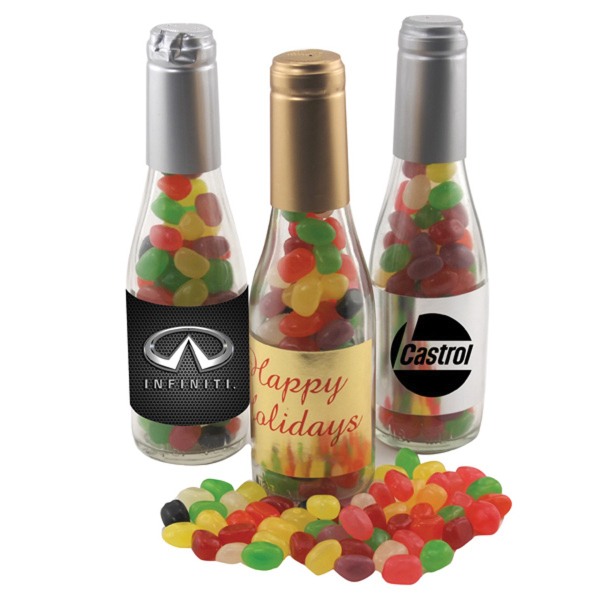 "8"" Champaign Bottle with Jelly Beans Candy"