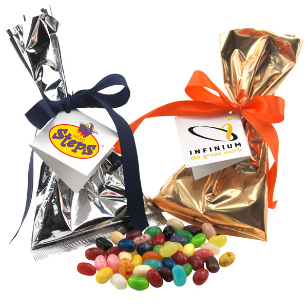 Gourmet Jelly Beans  Favor/Mug Stuffer Bags with Ribbon