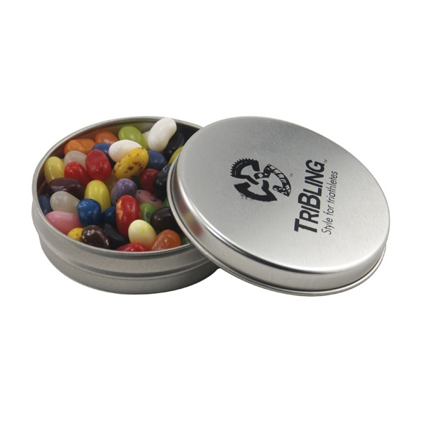 Round Metal Tin with Lid and Jelly Bellys