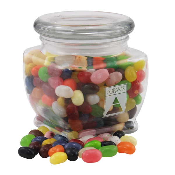 Jelly Bellys Candy in a Large Glass Jar with Lid
