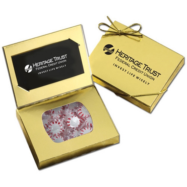 Gold Credit Card Gift Box with Starlight Peppermints