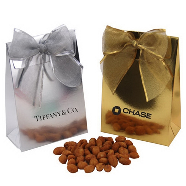 Honey Roasted Peanuts  in a Stand Up Gift Box with Bow