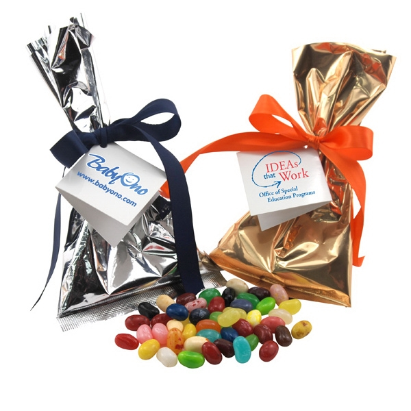 Jelly Bellys Favor/Mug Stuffer Bags with Ribbon