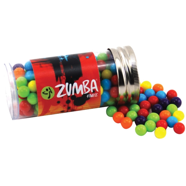 "Mini Jawbreakers Candy in a 3 "" Plastic Tube with Metal Cap"