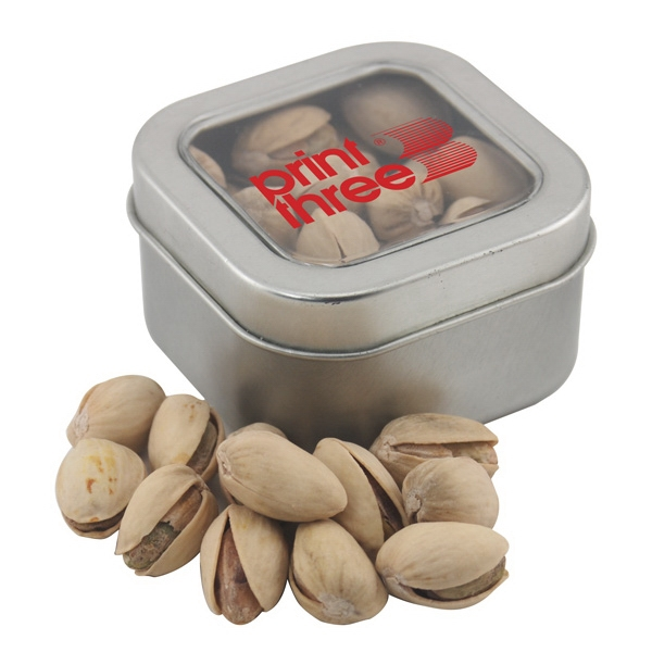 Tin with Window Lid and Pistachios