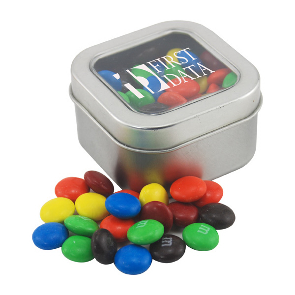 Tin with Window Lid and M&M's