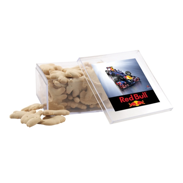 Animal Crackers in a Clear Acrylic Large Box