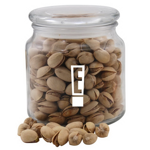 Pistachios in a Glass Jar with Lid