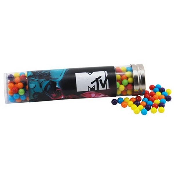 "Mini Jawbreakers Candy in a 6 "" Plastic Tube with Metal Cap"