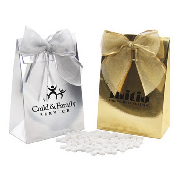 Mini Mints in a Stand Up Gift Box with Bow