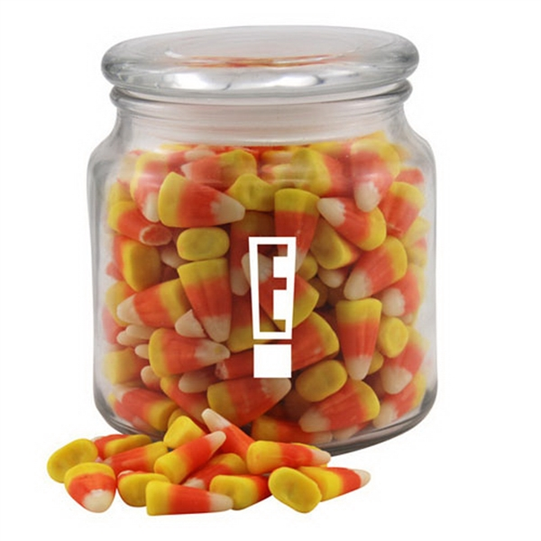 Candy Corn in a Glass Jar with Lid
