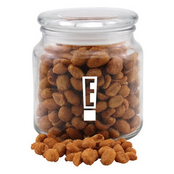 Honey Roasted Peanuts in a Glass Jar with Lid