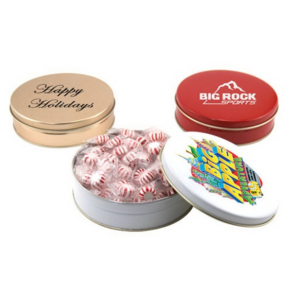 "Starlight Mints in a Round Tin with Lid-6"" D"
