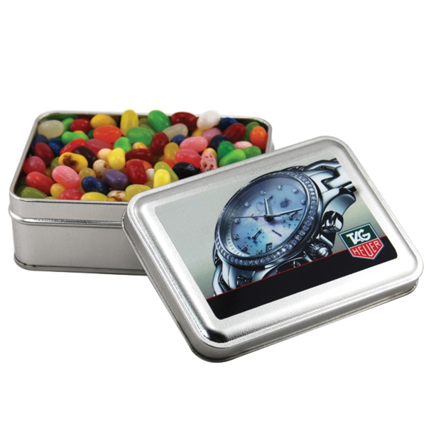 Jelly Belly Candy in a metal gift box with lid