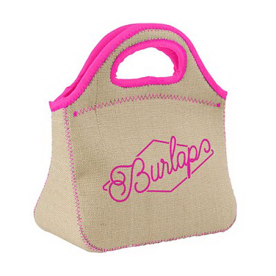 Klutch Burlap-Neoprene Lunch Bag