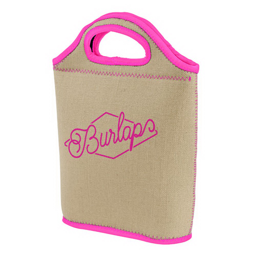 Venti Burlap-Neoprene Lunch Bag