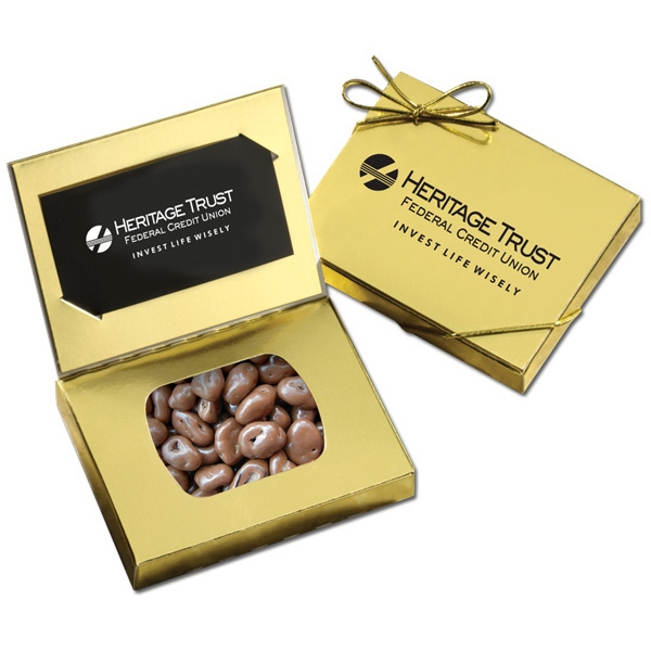 Gold Credit Card Gift Box with Chocolate Covered Raisins