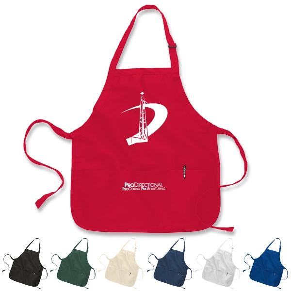 Apron with Pouch, Medium Length