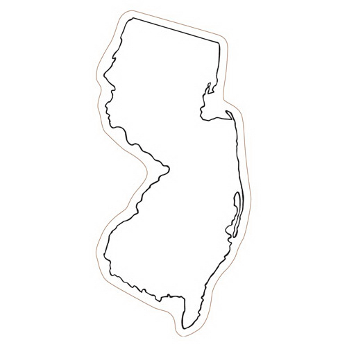 New Jersey State Stock Magnet
