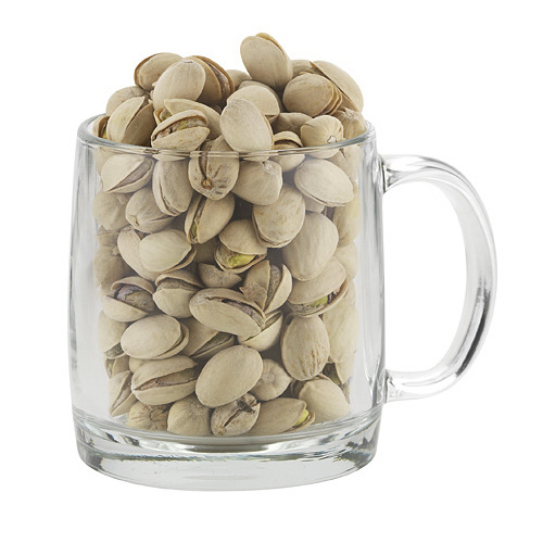 Nordic Glass Mug With Pistachios