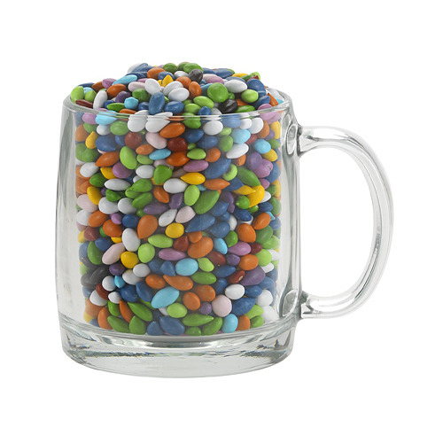 Nordic Glass Mug With Chocolate Sunflower Seeds