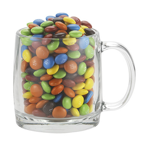 Nordic Glass Mug And M & M's