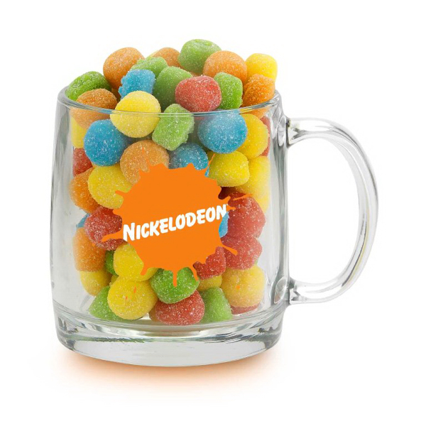 Nordic Glass Mug And Gummy Sour Poppers
