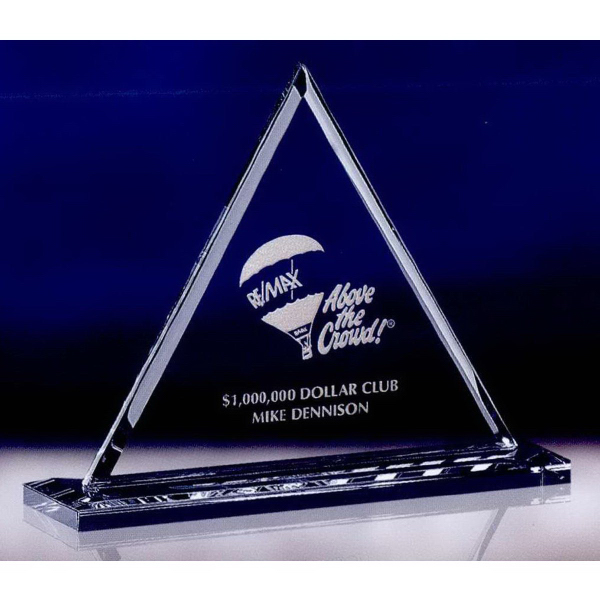 Medium Optic Crystal Pyramid Award