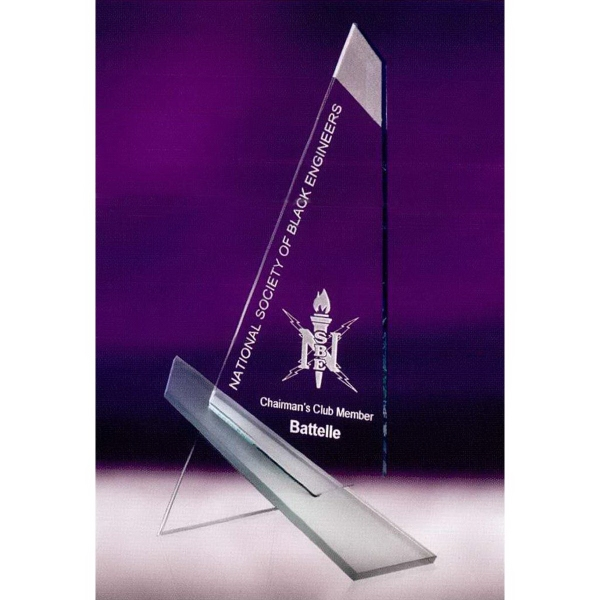 Large Vanguard Jade Crystal Award